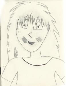 manga tekening gezicht meisje
